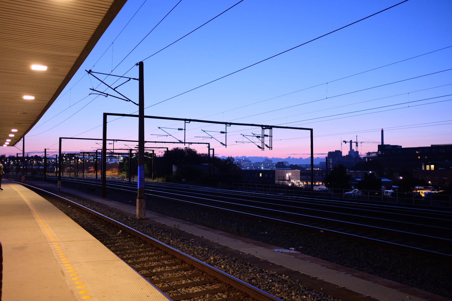 早朝のコペンハーゲン空港まで電車で行ってきた話