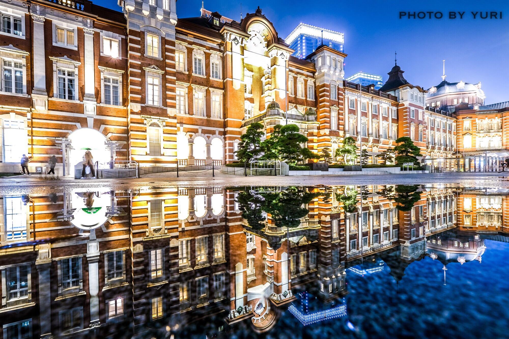 雨の日限定の観光スポット!?東京駅リフレクション写真を撮影してみた