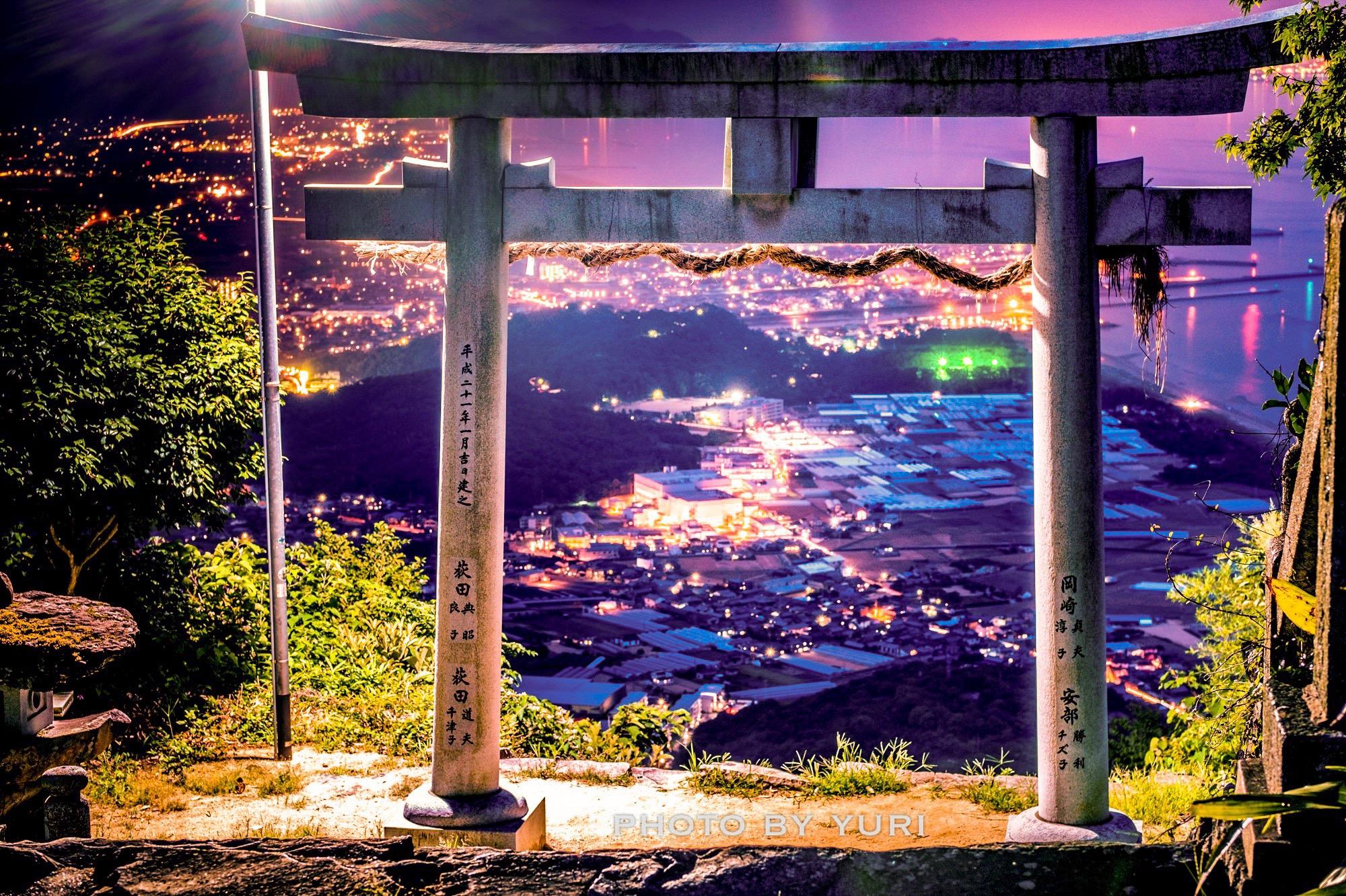 四国にある天空の鳥居!高屋神社で夜景を撮ってきた話